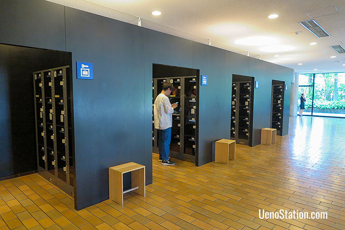 Lockers are available for visitors' bags