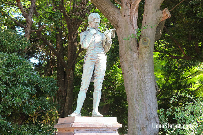 The statue of Edward Jenner