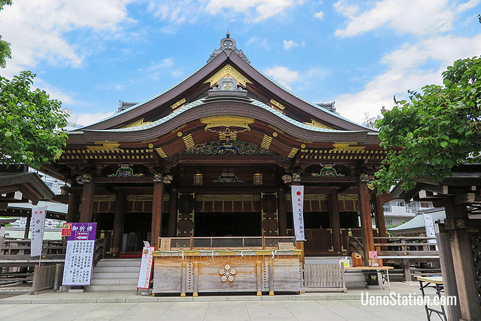 The Honden or Main Shrine Building of Yushima Tenmangu