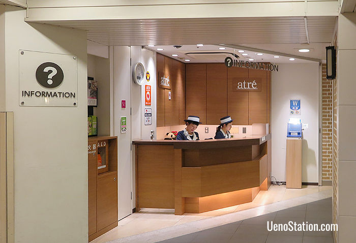 The information counter at Atre Ueno Station