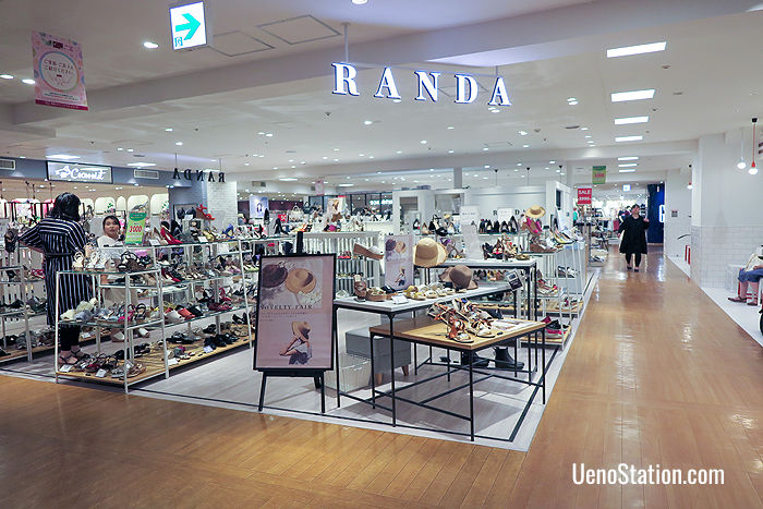 Randa: a shoe store for ladies on the 2nd floor