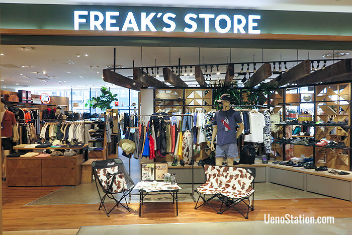 Freak's Store on the 3rd floor has casual wear for ladies and men