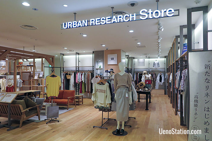 Urban Research Store on the 5th floor