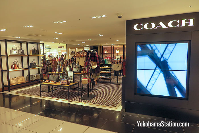 Coach: a luxury accessory store on the 3rd floor