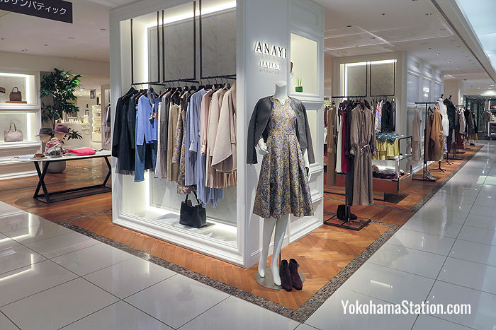 Anayi on the 4th floor sells elegant ladies' clothing made with high quality materials and classic designs