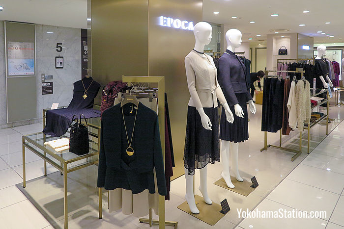 Sophisticated fashions for ladies at Epoca on the 5th floor