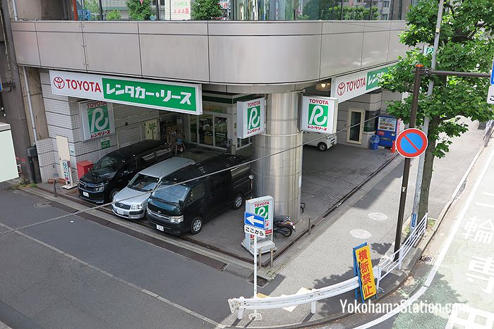 The Toyota Rent-a-car office is also an 8 minute walk from Yokohama Station's West Exit