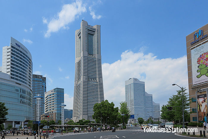 Yokohama Landmark Tower dominates the bayside area