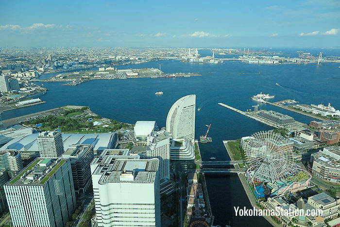 The view from the northeast side looking over Yokohama Bay