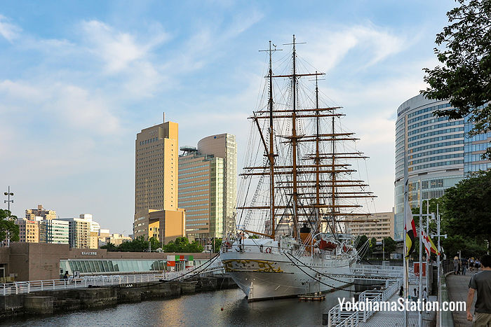 The Nippon Maru with sails folded
