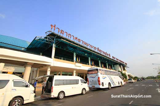 Minibus transport at Surat Thani Airport