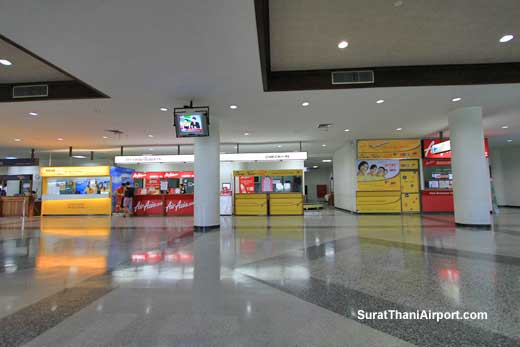 Check-in counters Surat Thani Airport